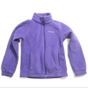 Kids Columbia Fleece Zip up Sweater Sz S (7-8)